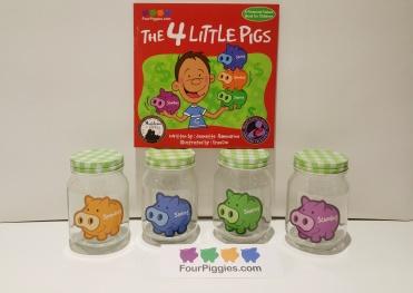 4 Piggies book and jars pic